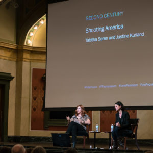 Tabitha Soren and Justine Kurland during the Second Century Keynote Conversation: Shooting America